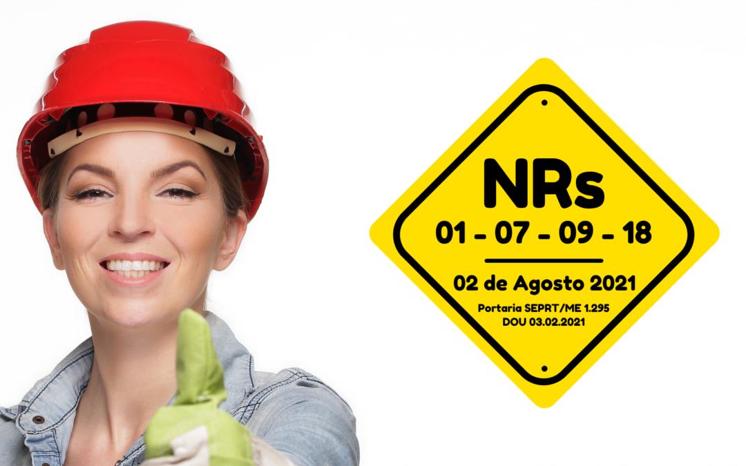 Novas NRs em agosto de 2021